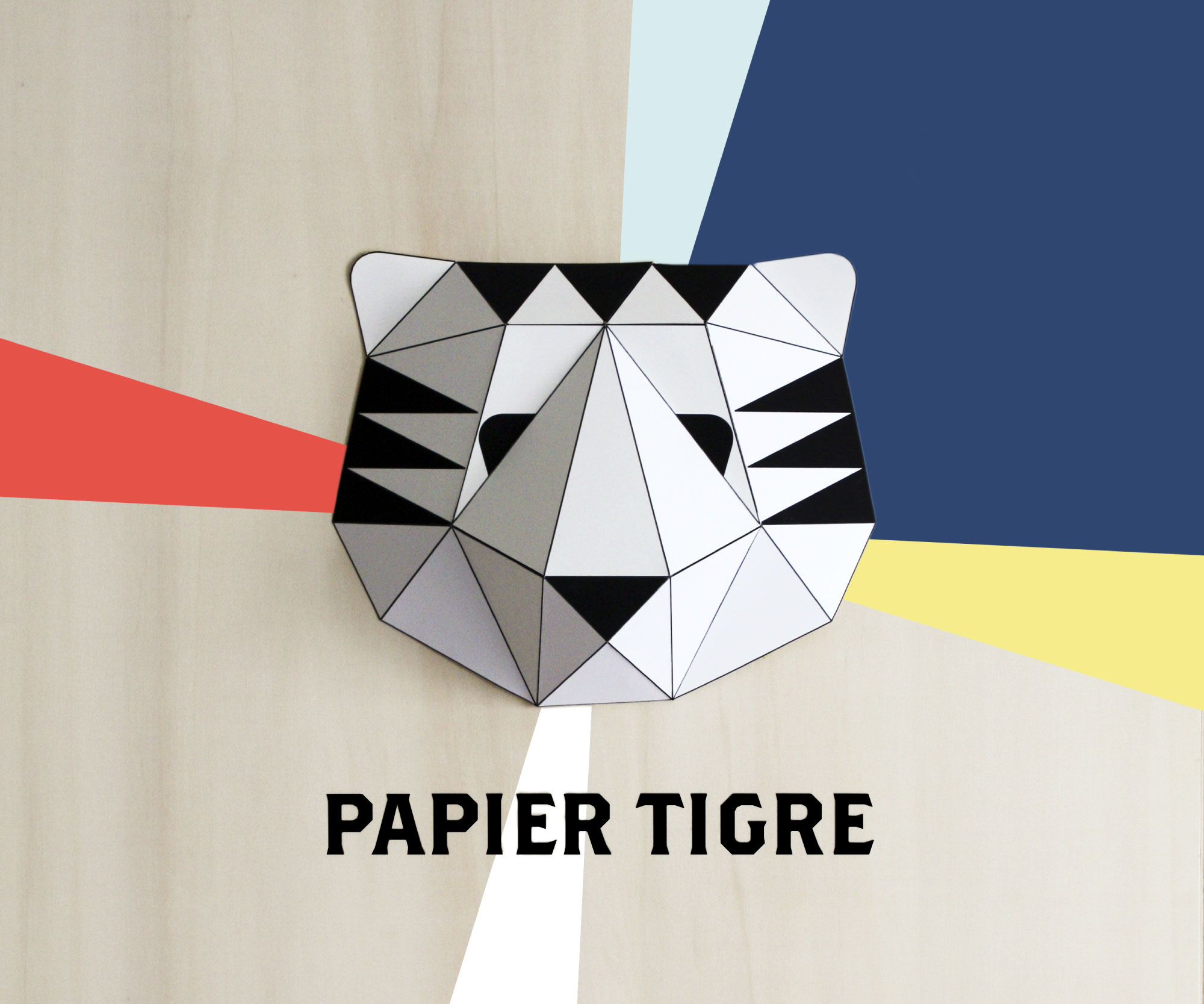 papier tigre very french paper. Black Bedroom Furniture Sets. Home Design Ideas